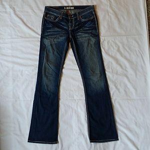 BKE Lexi denim blue jeans 28 X 33.5
